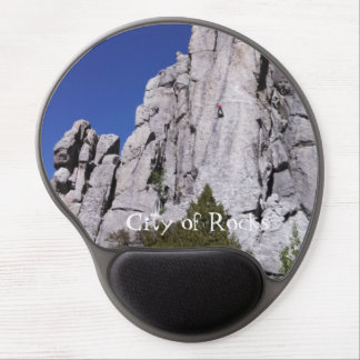 Climbing at the City of Rocks National Reserve Gel Mousepads