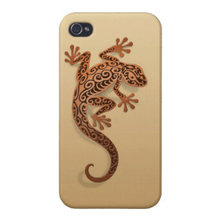 Climbing Brown Gecko Cover For iPhone 4