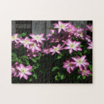 Climbing Clematis Purple Spring Floral Jigsaw Puzzle