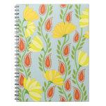 Climbing Flora Spiral Notebooks