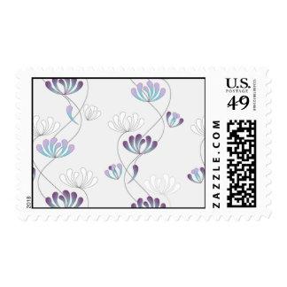 climbing flowers pattern 2 postage