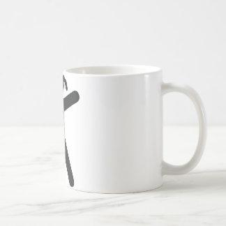 climbing girl icon coffee mug