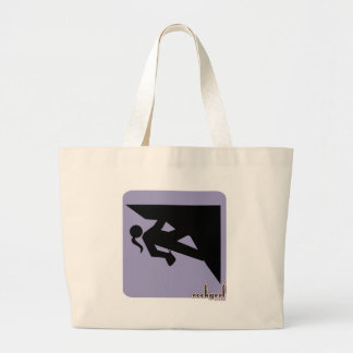 Climbing Girl Icon - on Violet Tote Bags