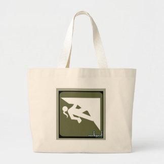 Climbing Girl Icon Tote Bag