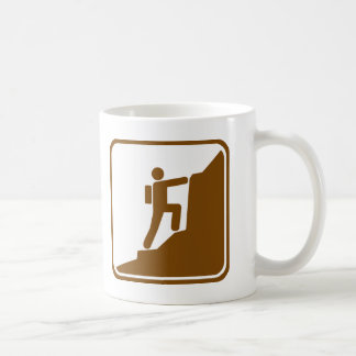 Climbing Highway Sign Coffee Mug