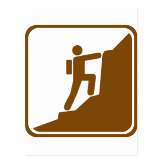 Climbing Highway Sign Postcard