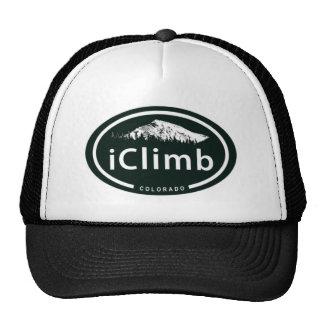 "Climbing ""iClimb"" Oval CO Mountain Tag Hat"