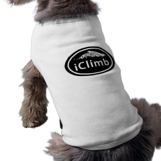 Climbing iClimb Oval Mountain Tag Dog Shirt
