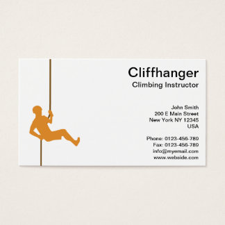 Climbing Instructor on Robe Business Card