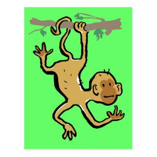 climbing monkey postcard