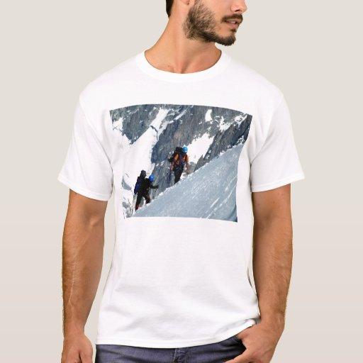 Climbing Mont Blanc T Shirt Zazzle