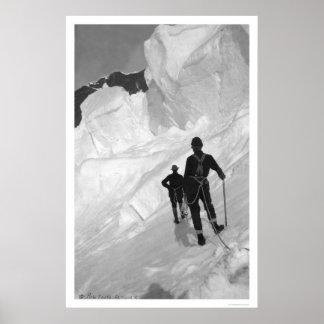 Climbing Mount McKinley Alaska 1906 Poster
