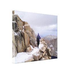 Climbing Mount Whitney Canvas Print