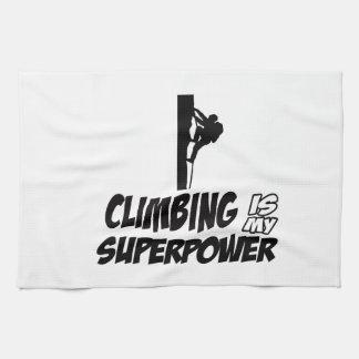Climbing my super power hand towels
