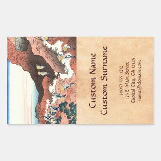 Climbing on Mt. Fuji Katsushika Hokusai Rectangular Sticker