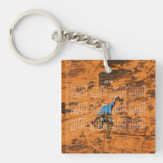 Climbing on Red Rocks; 2013 Calendar Keychain