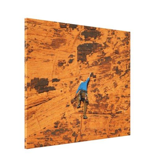 Climbing on Red Rocks Canvas Print