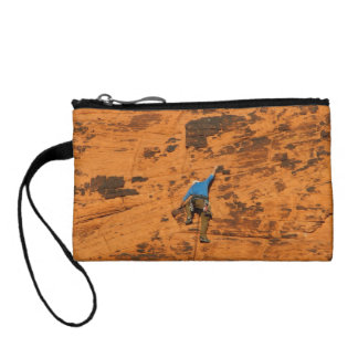 Climbing on Red Rocks Coin Wallet