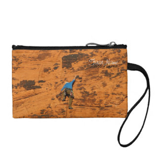 Climbing on Red Rocks; Customizable Coin Purse