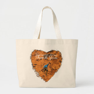 Climbing on Red Rocks; Promotional Large Tote Bag