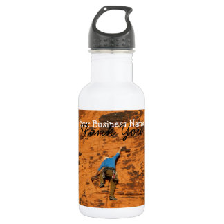 Climbing on Red Rocks; Promotional 18oz Water Bottle