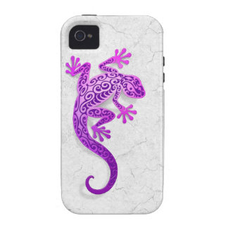 Climbing Purple Gecko on a White Wall Vibe iPhone 4 Cover
