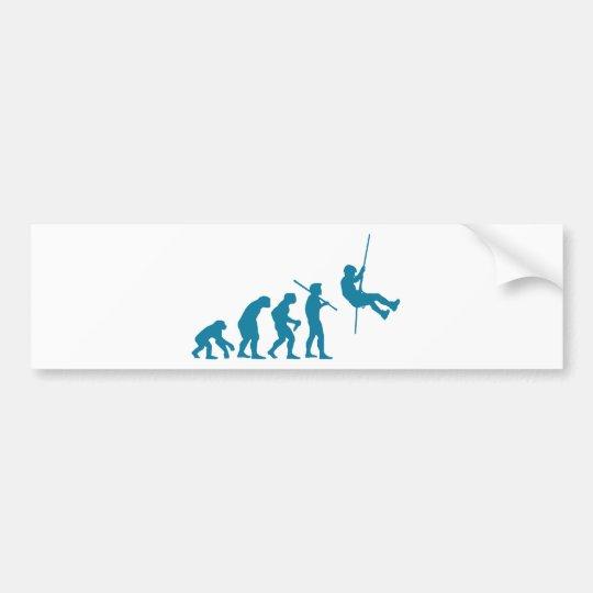 Climbing & Rappelling Evolution Bumper Sticker