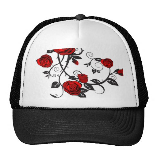Climbing Red Roses Mesh Hats