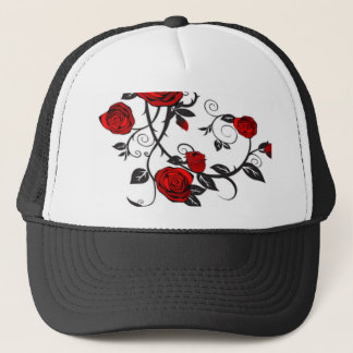 Climbing Red Roses Trucker Hat