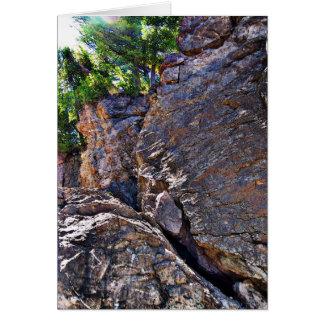 Climbing Rocks And Trees Card