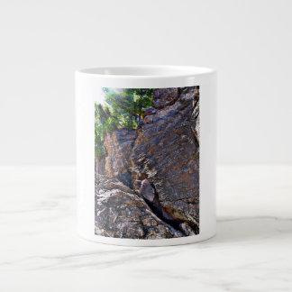 Climbing Rocks And Trees Large Coffee Mug