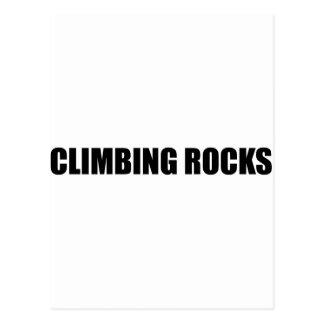 Climbing Rocks Postcard