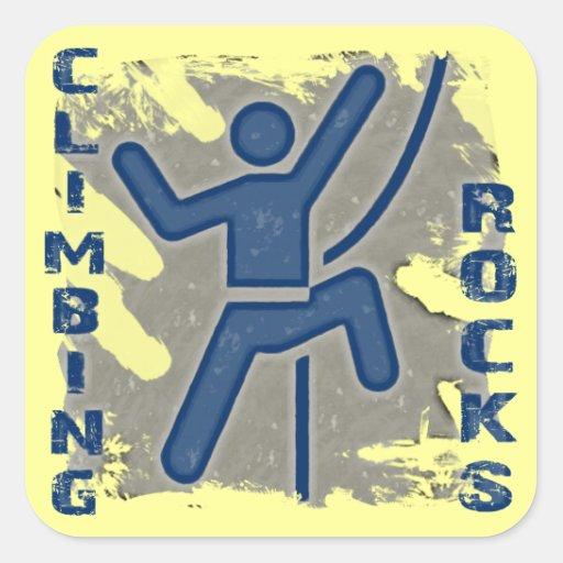 Climbing Rocks Square Sticker