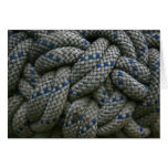Climbing rope knot greeting card