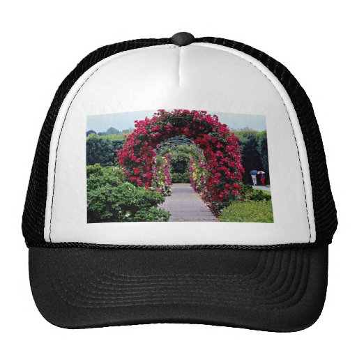 Climbing Rose Arches Yellow flowers Trucker Hat