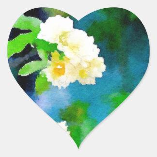 Climbing Roses Heart Sticker