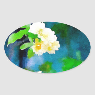Climbing Roses Oval Sticker