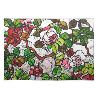 Climbing Roses - stained glass Placemats