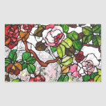 Climbing Roses - stained glass Rectangular Sticker