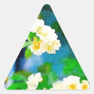 Climbing Roses Triangle Sticker