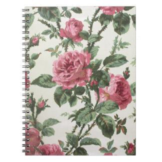 Climbing roses wallpaper, 1900-1915 notebook