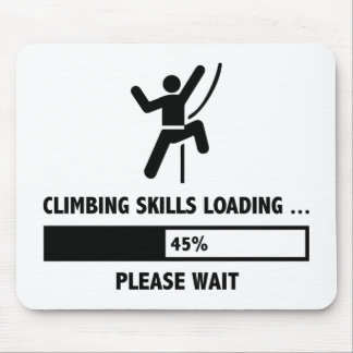 Climbing Skills Loading Mouse Pad