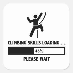 funny rock climbing stickers zazzle