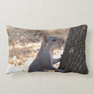 Climbing Squirrel Lumbar Pillow