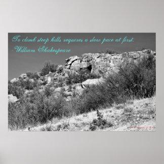 Climbing Steep Hills Poster