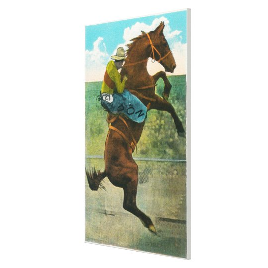 Climbing the Golden Stairs at the Annual Rodeo Canvas Print