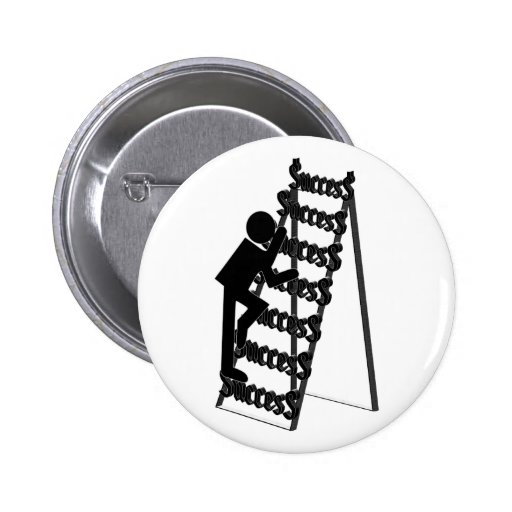 Climbing the Ladder of Success 2 Inch Round Button