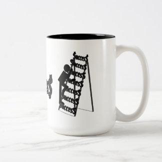 Climbing the Ladder of Success Two-Tone Coffee Mug