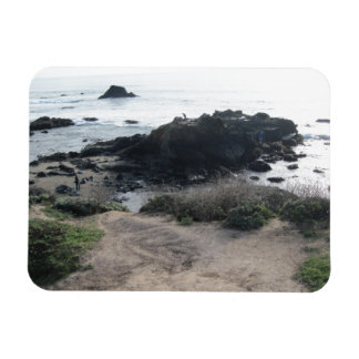 Climbing the Rocks on a Cambria Beach Magnet