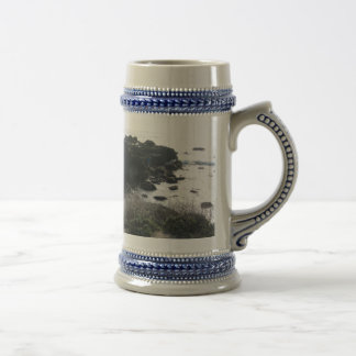 Climbing the Rocks on a Cambria Beach 18 Oz Beer Stein